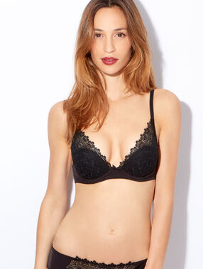 Triangle push up dentelle noir.