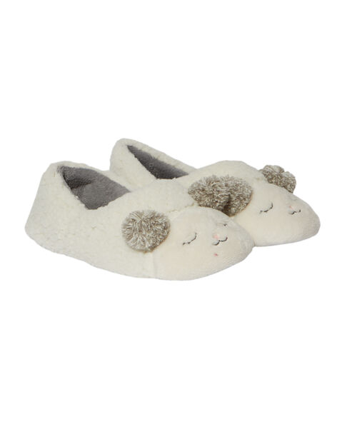 Chaussons peluche ourson