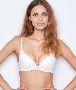 Lace push up bra white.