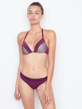 Soutien-gorge n°2 - push up plongeant, dos nageur violet.
