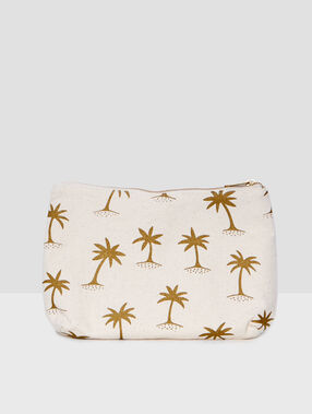 Printed bag beige.