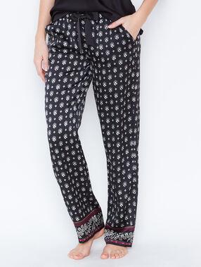 Printed pyjamapants black.