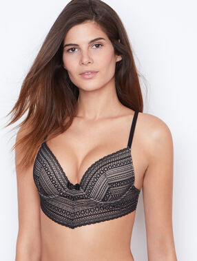 Lace magic up® bra black.