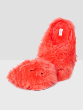 3d mules slippers orange.