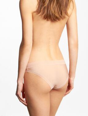 Slip microvezel en kant, voelt aan als een tweede huid nude.