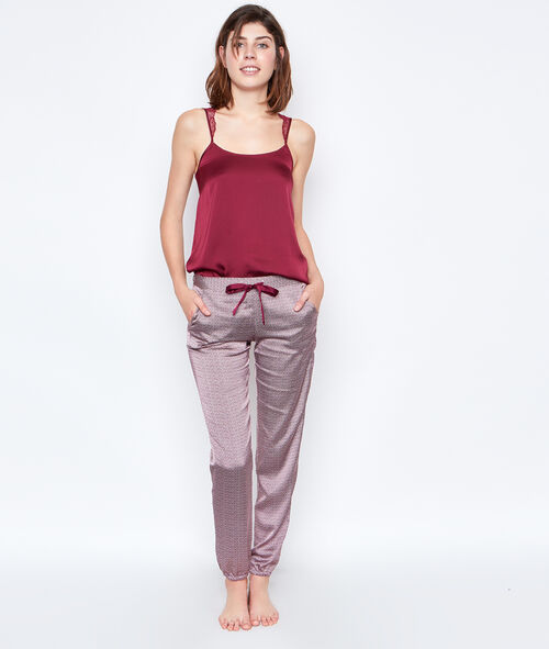 Satine printed pyjama pants;${refinementColor}