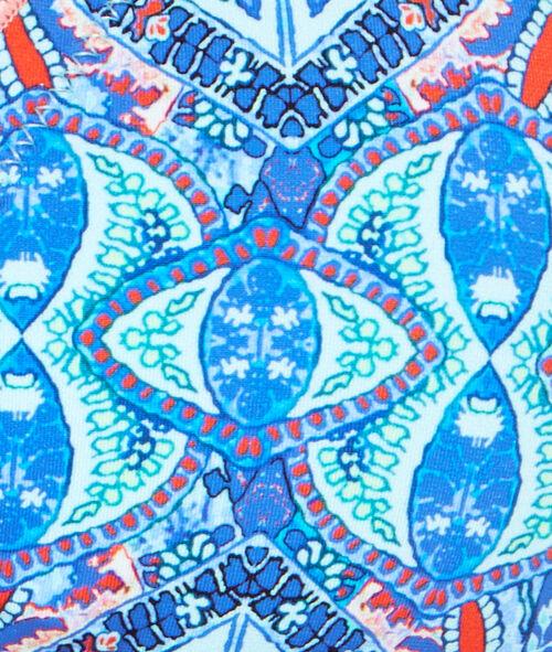 Printed triangle bra;${refinementColor}