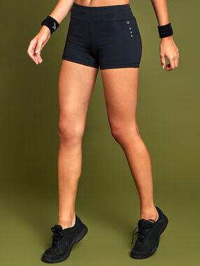 Short de sport stretch noir.