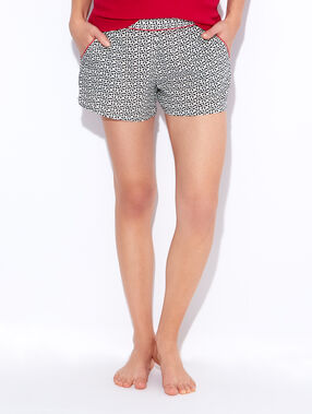 Printed pyjama shorts black / white.