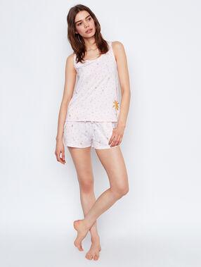 Pyjamashort rosa.