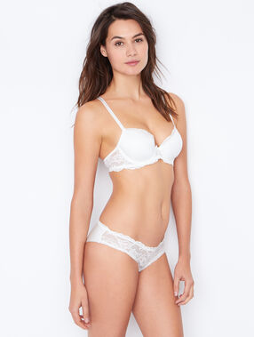Micro padded demi cup off white.