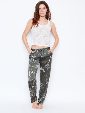 Printed trouser green.