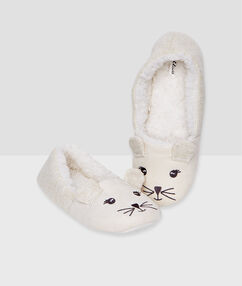 Zapatillas forro polar c. gris.