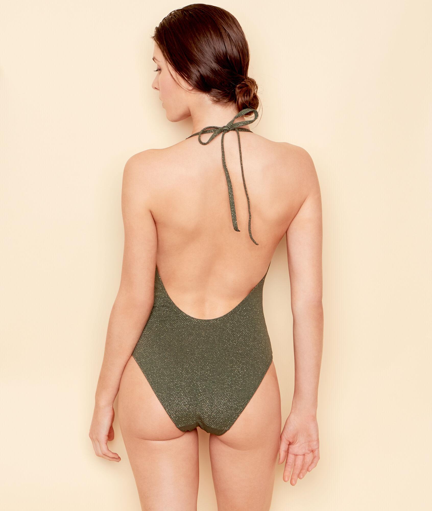 margot maillot de bain 1 pi ce uni avec fibres m tallis es etam. Black Bedroom Furniture Sets. Home Design Ideas