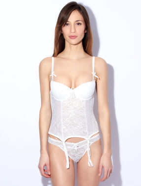 Lace corset weiß.