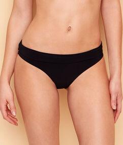 Culote bikini multiposiciones talle alto/talle bajo negro.