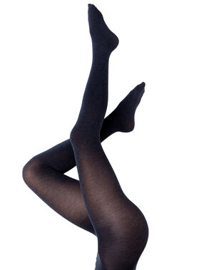 Collants opaque extra chaud gris clair.