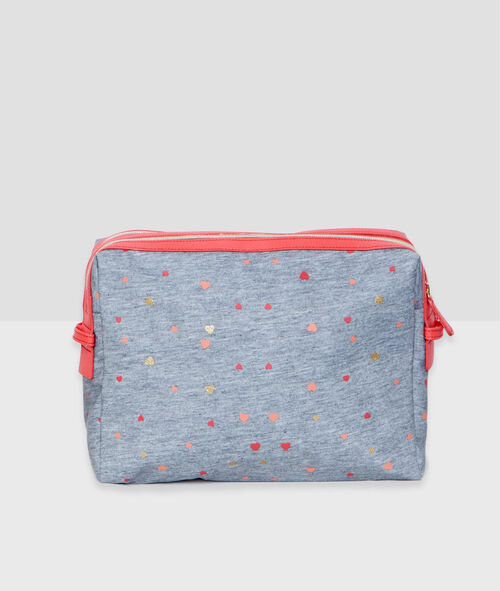 Heart and message toiletry bag;${refinementColor}