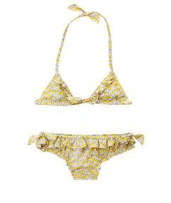 Dwuczęściowy kostium kąpielowy dla dziewczynki 4-8 lat jaune pâle.