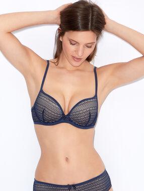 Lace push up bra navy blue.
