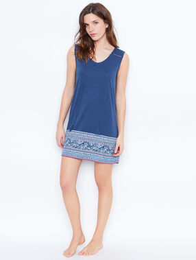 Printed nightdress blue.