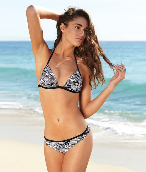Haut de maillot de bain triangle push up imprimé