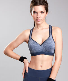 Sport bra, maximum support blue.