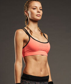Sport bra, minimum support coral.