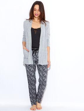 Pyjama 3 pièces noir / gris.