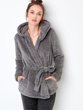 Veste doudou gris.