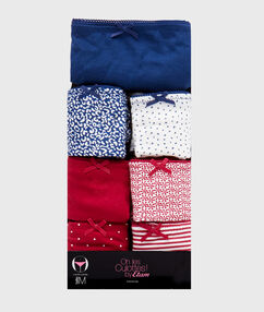 Pack of 7 coton briefs multicolor.