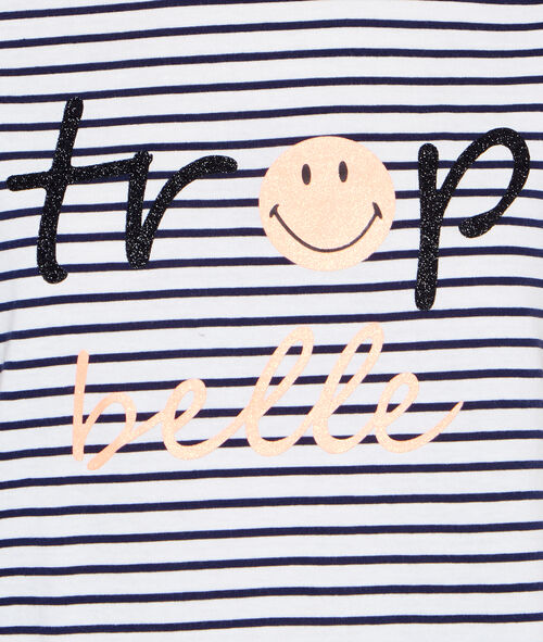 T-shirt message Smiley;${refinementColor}