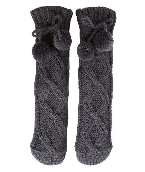 Chaussettes chaussons torsadées