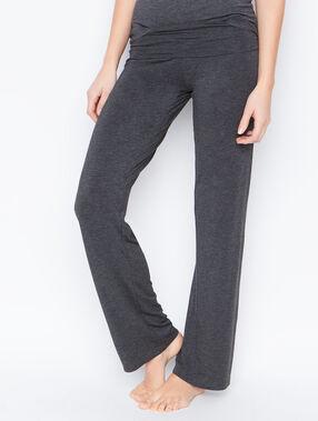 Pantalon fluide viscose gris.