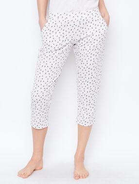 Printed trouser beige.