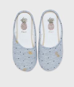Zapatillas estampado palmeras c.gris.