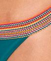 Culotte de bain avec détail élastique multicolore