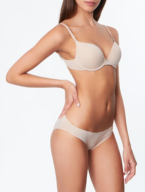 Culotte micro finition thermocollée  beige.
