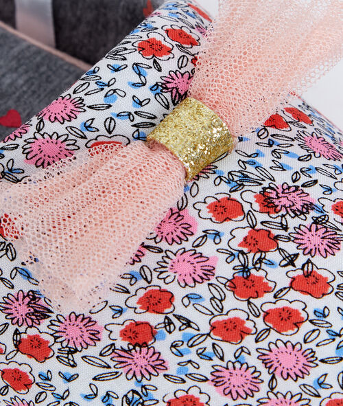 Floral print slippers