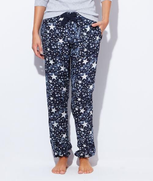 Pantalon fluide imprimé étoiles