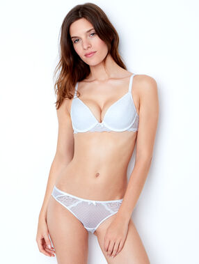 Lace magic up® bra white.
