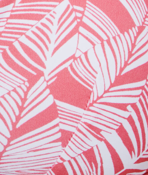 Haut de maillot de bain triangle imprimé sans armatures, pad amovible;${refinementColor}