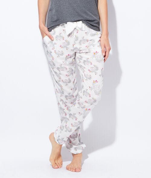 Pantalon imprimé chouette