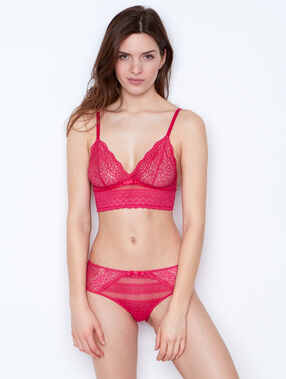 Triangle bra pink.