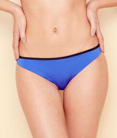 Braguita bikini bicolor azul real.