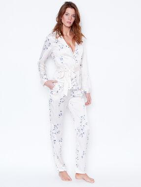 Printed jacket white.