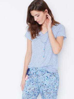 Pyjama oberteile bleu.