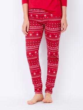 Printed pyjama pants red.