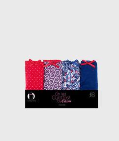 Majtki brazilijskie z bawełny - komplet 4 szt. multicolore.