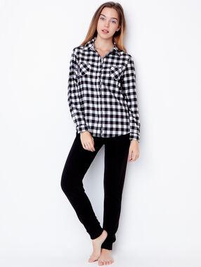 Pyjama shirt black.